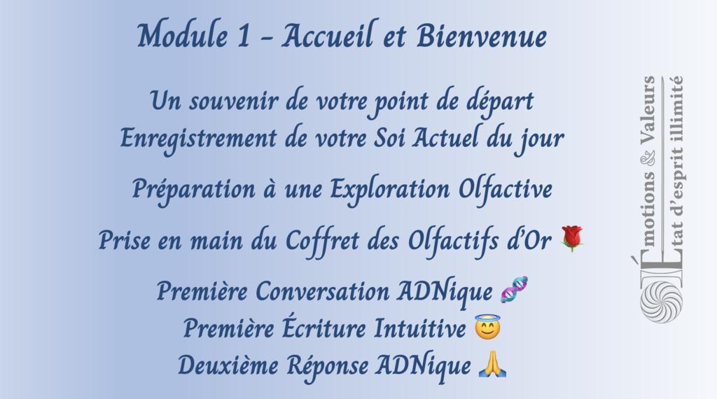 Académie Coach-Olfactif - Module 1 - Objectifs